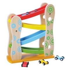 Puidust võidusõidurada GT61306 hind ja info | Imikute mänguasjad | kaup24.ee