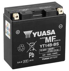 Aku Yuasa AGM 12-12,6Ah 0,6L YT14B-BS hind ja info | Mootorrataste akud | kaup24.ee
