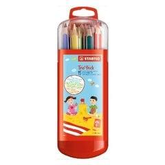 Цветные карандаши Stabilo Trio 15цветов цена и информация | Канцелярские товары | kaup24.ee