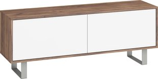 TV laud King, tumepruun/valge