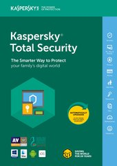 Kaspersky Total Security – 2018 uus litsents (1 seade)