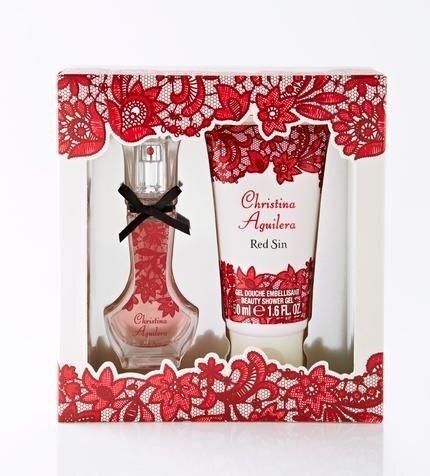Комплект для женщин Christina Aguilera Red Sin: парфюмированная вода EDP 15 мл + гель для душа 50 мл цена и информация | Naiste lõhnad | kaup24.ee