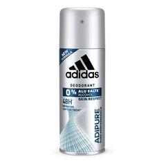 Spreideodorant Adidas Adipure meestele 150 ml hind ja info | Deodorandid | kaup24.ee