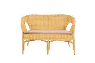 Плетеный диван Kelek, светло-коричневый
