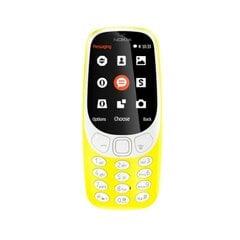 Mobiiltelefon Nokia 3310 (2017), Dual SIM, ENG/RUS, kollane