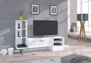 TV laud koos riiulitega York, valge