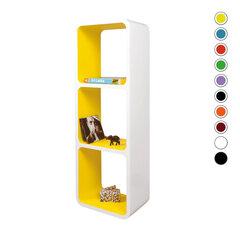 Riiulite komplekt CUBE LO13, valge/kollane hind ja info | Riiulite komplekt CUBE LO13, valge/kollane | kaup24.ee