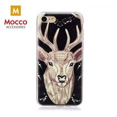 Telefoni ümbris Mocco Fashion Case Glow in The Dark Deer, sobib Samsung G955 Galaxy S8 Plus telefonile, must