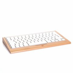 Klaviatuuri alus Woodcessories Ecotray Bamboo, skirtas 1st generation Apple Wireless Keyboard, bambus