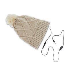 Integreeritud kõrvaklappidega müts Forever , beež