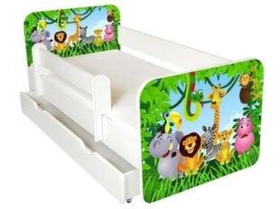 Voodi Ami 1 koos madratsi 160x80cm, voodipesukasti ja eemaldatava äärega hind ja info | Lastetoamööbel | kaup24.ee