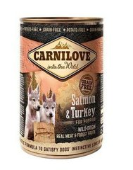 Konserv koertele Carni Love Wild Meat Salmon&Turkey for Puppies, 400g