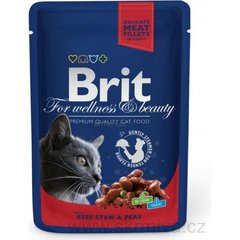 Konserv kassidele BRIT PREMIUM Beef Stew&Peas, 100g