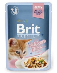 Konserv kassidele BRIT PREMIUM Chicken for Kitten in Gravy, 85g