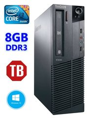 Lauaarvuti Lenovo ThinkCentre M82 SFF i3-3240 8GB 1TB DVD WIN10Pro
