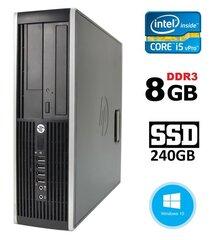 Lauaarvuti HP 8300 Elite SFF i5-3470 8GB 240SSD DVDRW WIN10Pro