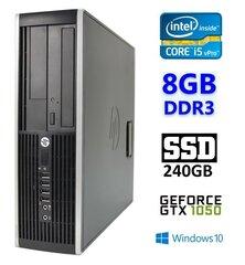 Lauaarvuti HP 8300 Elite SFF i5-3470 8GB 240SSD GTX1050 2GB DVDRW WIN10Pro