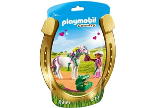 6969 PLAYMOBIL® Country Tüdruk poniga