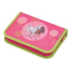 Pinal koos tarvikutega Herlitz Horses pink, 31-osaline, 2 klapiga, 50014316