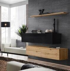 Elutoamööbli komplekt Switch SB 2, must/tamm hind ja info | Sektsioonid | kaup24.ee