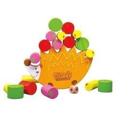 Puidust tasakaalu mäng Hedgehog PlayMe hind ja info | Imikute mänguasjad | kaup24.ee