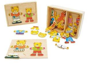 Puidust pusle Karude riietamine PlayMe hind ja info | Imikute mänguasjad | kaup24.ee