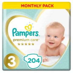 Mähkmed PAMPERS Premium Monthly Box suurus 3, 204tk