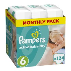 Mähkmed PAMPERS Active Baby Monthly Box suurus 6, 124tk