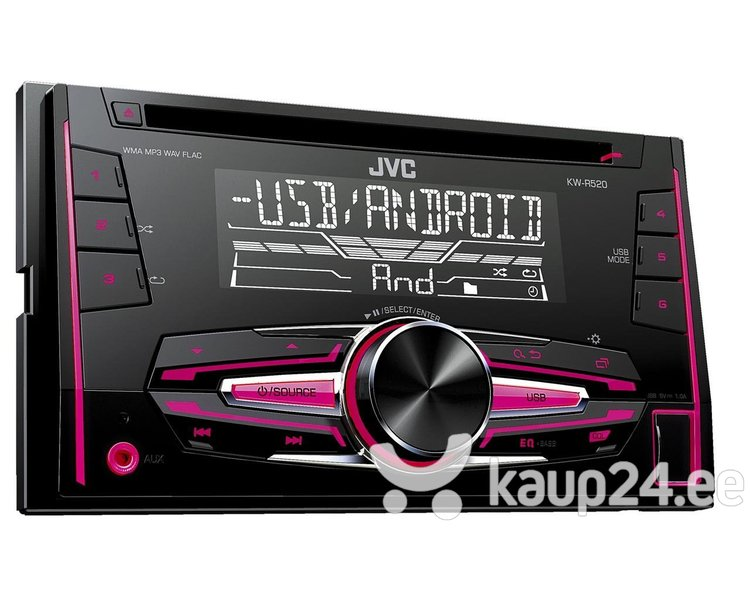 JVC, KW-R520 2-DIN USB/CD MP3 магнитола с AUX