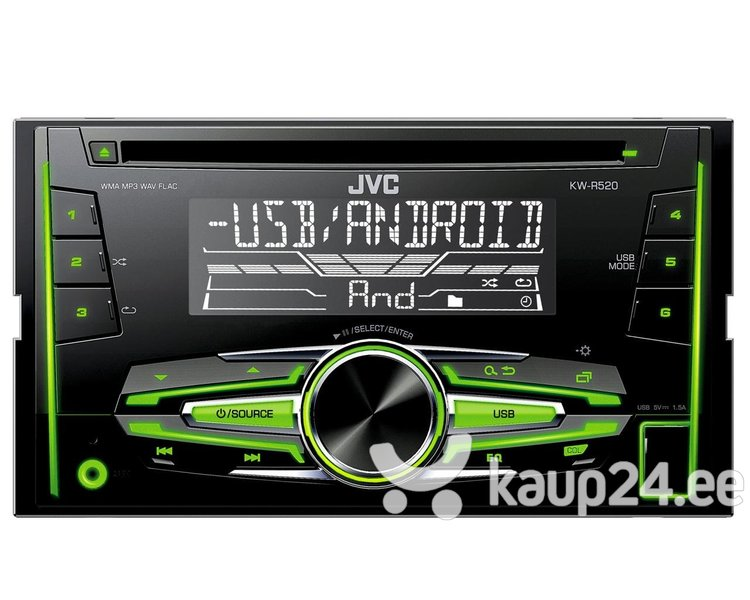 JVC, KW-R520 2-DIN USB/CD MP3 магнитола с AUX интернет-магазин