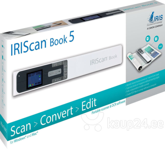 IRISCan Book 5 White - 30 PPM - Battery Li-ion Internetist