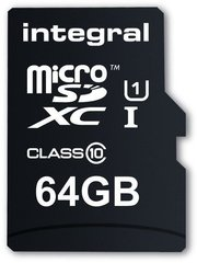 Mälukaart SD + adapter Integral 64 GB microSDXC UltimaPro