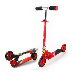 Kaherattaline tõukeratas Ferrari Scooter Kids 2W punane