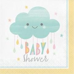 Salvrätikud Pilv Baby Shower, 16 tk