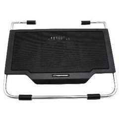 Sülearvuti jahutusalus Esperanza EA121 sobib 15,4'' - 15,6'' 1 ventiliat., must hind ja info | Sülearvuti jahutusalused jm | kaup24.ee