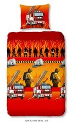Laste voodipesukomplekt 2-osaline GOOD MORNING Fire Dept, 140x200 cm