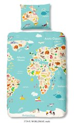 Laste voodipesukomplekt 2-osaline GOOD MORNING World Map, 135x200 cm