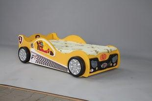 Voodi koos madratsiga Monza Mini, kollane