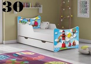 Voodi koos madratsi ja voodikastiga SMB Small 30, 140x70 cm