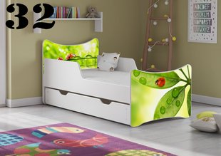 Voodi koos madratsi ja voodikastiga SMB Small 32, 140x70 cm