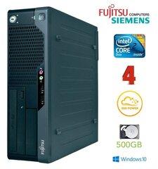 Lauaarvuti Fujitsu Siemens E7935 SFF E7300 4GB 120SSD+500GB DVD Win10Pro hind ja info | Lauaarvutid | kaup24.ee