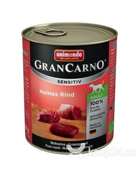 Konserv koertele Animonda GranCarno Sensitive veiselihaga, 400g