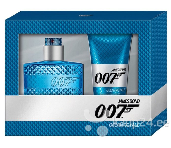Комплект для мужчин James Bond 007 Ocean Royale: EDT 50 ml + гель для душа 150 ml