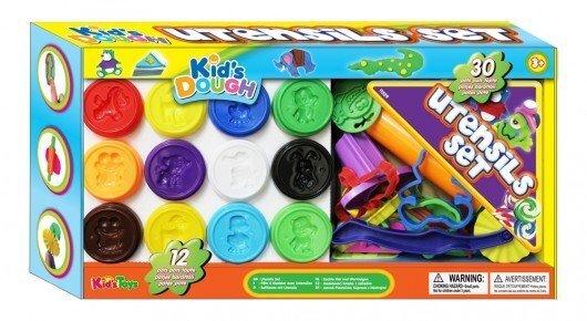 Пластилин с аксессуарами Kids Dough. 30 частей