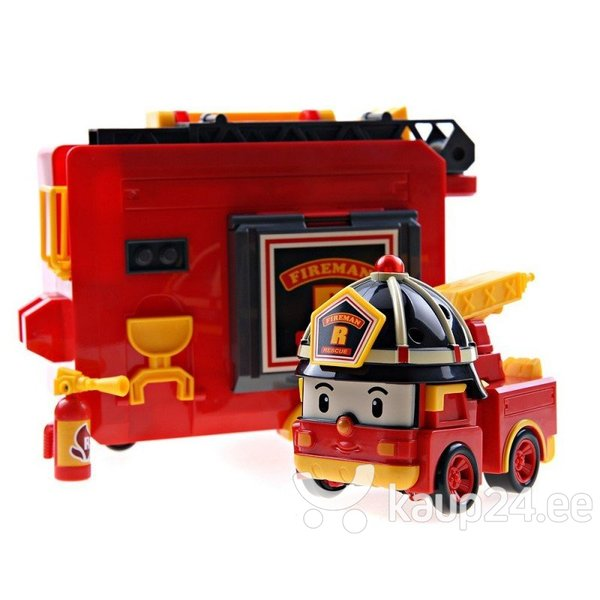 Трансформер робот - пожарная машина с гаражом Robocar Poli Roy