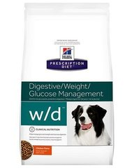 Kuivtoit koertele Hill's Prescription Diet w/d Canine, 12 kg