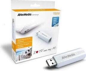 AVerMedia digital TV Tuner TD310, DVB-T2, DVB-T, DVB-C, H.264 HEVC, AVerTV 3D hind ja info   Arvuti komponendid   kaup24.ee