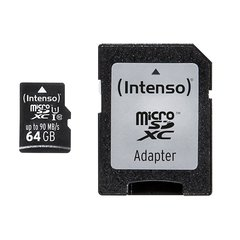 Mälukaart Intenso micro SD UHS-I 64GB CL10