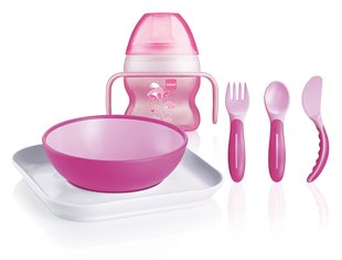 Söömise komplekt MAM Feeding Set 6+ kuud, pink hind ja info | Toitmiseks | kaup24.ee