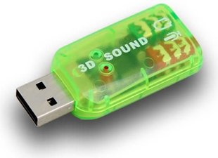 Sound card USB-Jack(3,5mm) 2x, M/F